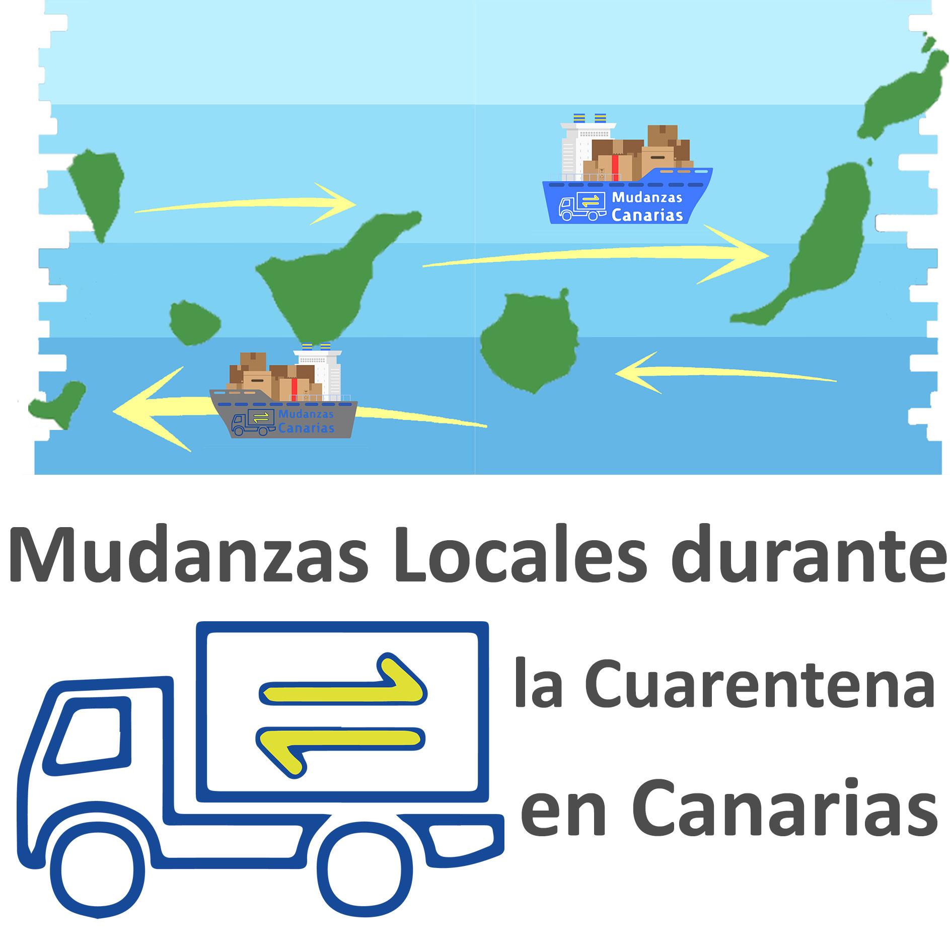 Mudanzas Locales durante la cuarentena en Canarias